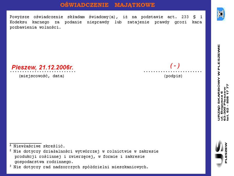 Pleszew, 21.12.2006r. ( - )