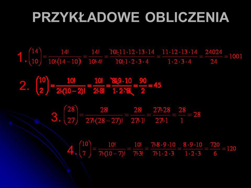 PRZYKŁADOWE OBLICZENIA 1. 2. 3. 4.