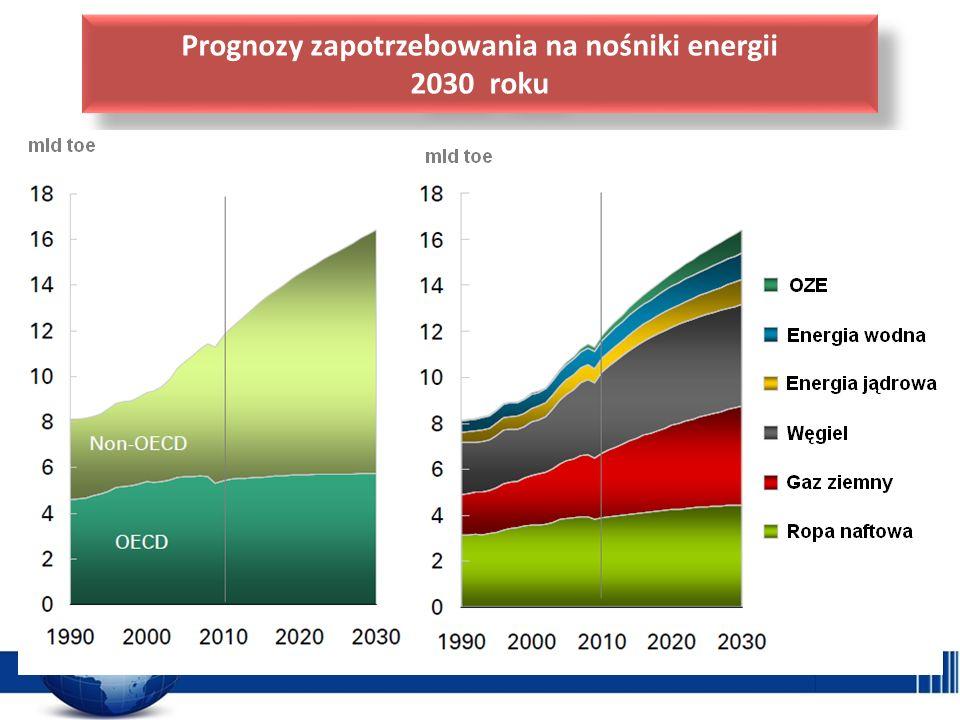 Prognozy zapotrzebowania na nośniki energii 2030 roku Prognozy zapotrzebowania na nośniki energii 2030 roku