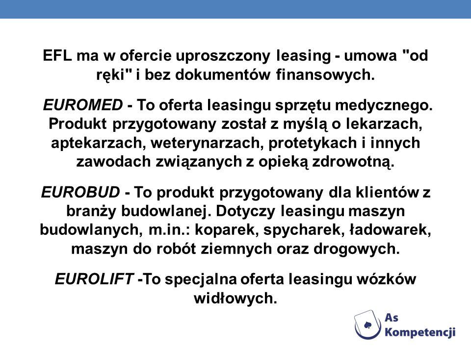 EFL ma w ofercie uproszczony leasing - umowa