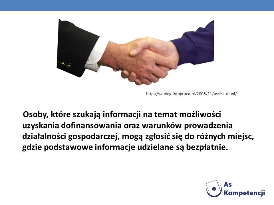 Osoby, które szukają informacji na temat możliwości uzyskania dofinansowania oraz warunków prowadzenia działalności gospodarczej, mogą zgłosić się do