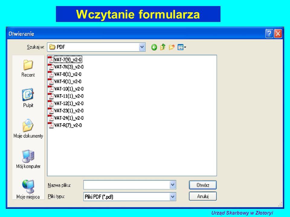 Wczytanie formularza Urząd Skarbowy w Złotoryi