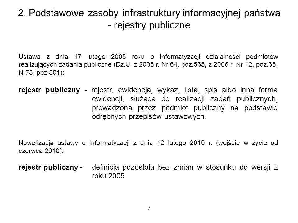 7 Ustawa z dnia 17 lutego 2005 roku o informatyzacji działalności podmiotów realizujących zadania publiczne (Dz.U. z 2005 r. Nr 64, poz.565, z 2006 r.