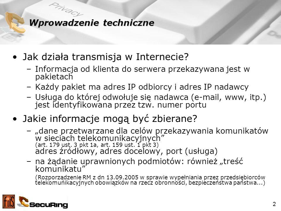 2 Wprowadzenie techniczne Jak działa transmisja w Internecie.