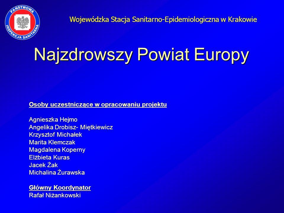 Wojewódzka Stacja Sanitarno-Epidemiologiczna w Krakowie Osoby uczestniczące w opracowaniu projektu Agnieszka Hejmo Angelika Drobisz- Miętkiewicz Krzys