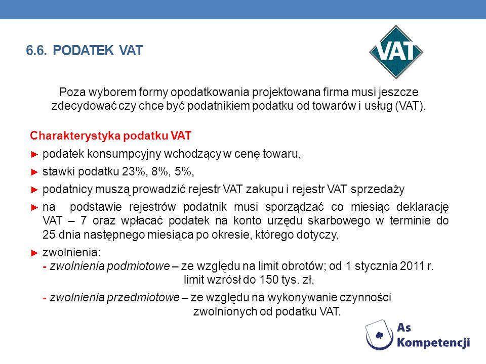 Poza wyborem formy opodatkowania projektowana firma musi jeszcze zdecydować czy chce być podatnikiem podatku od towarów i usług (VAT). Charakterystyka