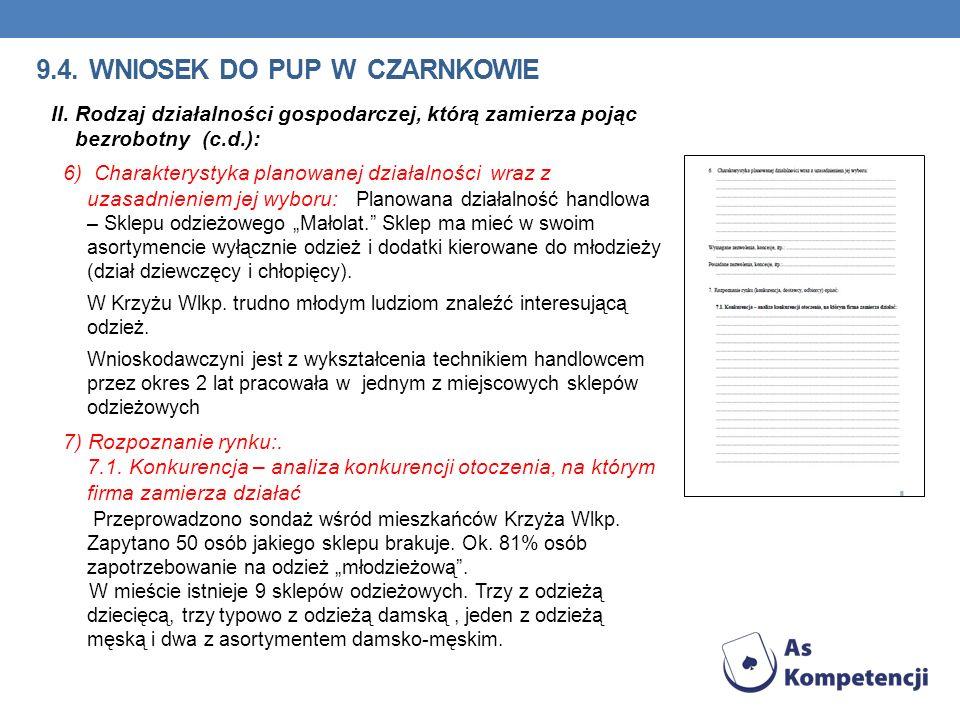 9.4.WNIOSEK DO PUP W CZARNKOWIE II.