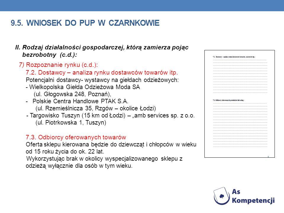 9.5.WNIOSEK DO PUP W CZARNKOWIE II.