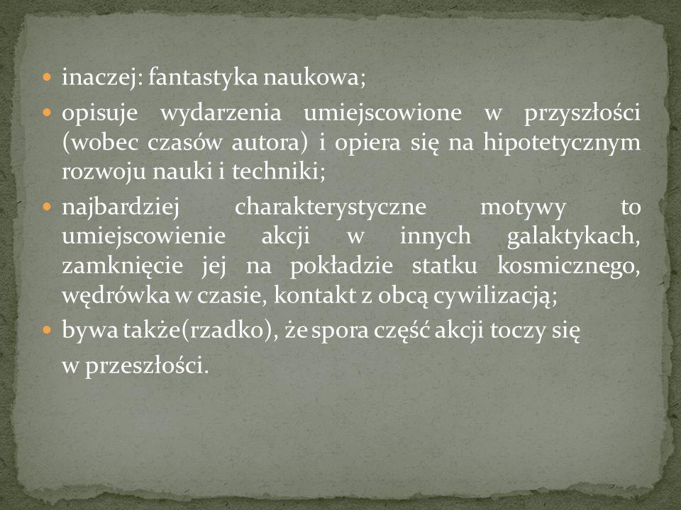 Przedstawiciele : Howard Phillips Lovecraft Stephen Edwin King Graham Masterton Przykłady filmów: Gabinet doktora Caligari Nosferatu - symfonia grozy Psychoza Noc żywych trupów Teksańska masakra piłą mechaniczną Laleczka Chucky Blair Witch Project The Grudge – Klątwa (2003 r.)