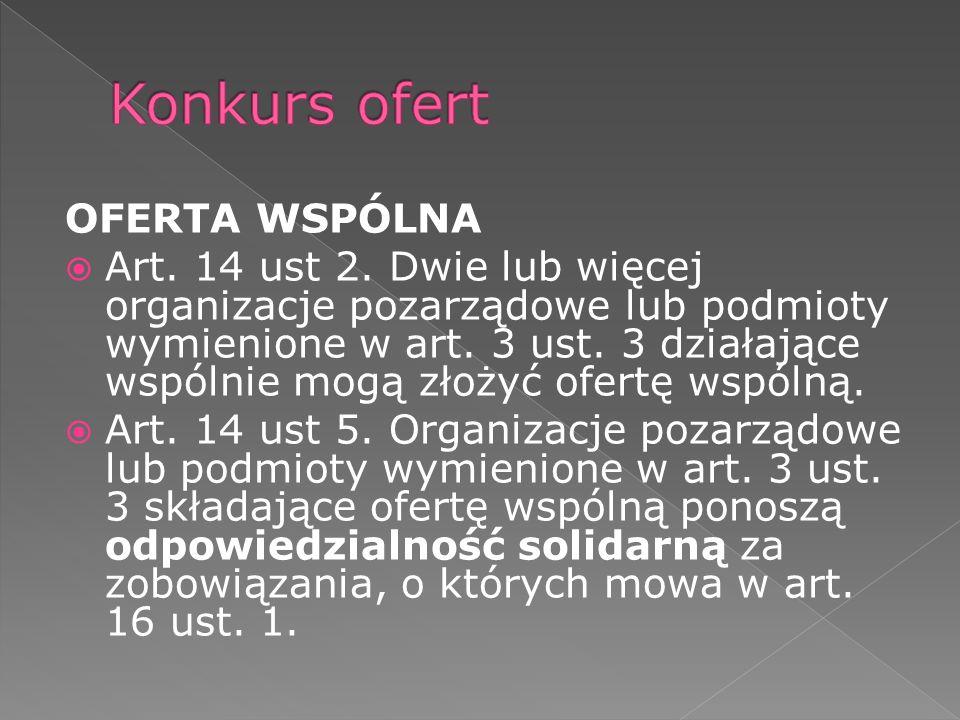OFERTA WSPÓLNA Art. 14 ust 2.