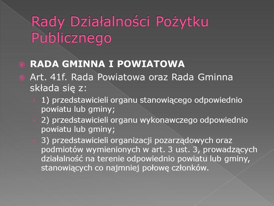 RADA GMINNA I POWIATOWA Art. 41f.