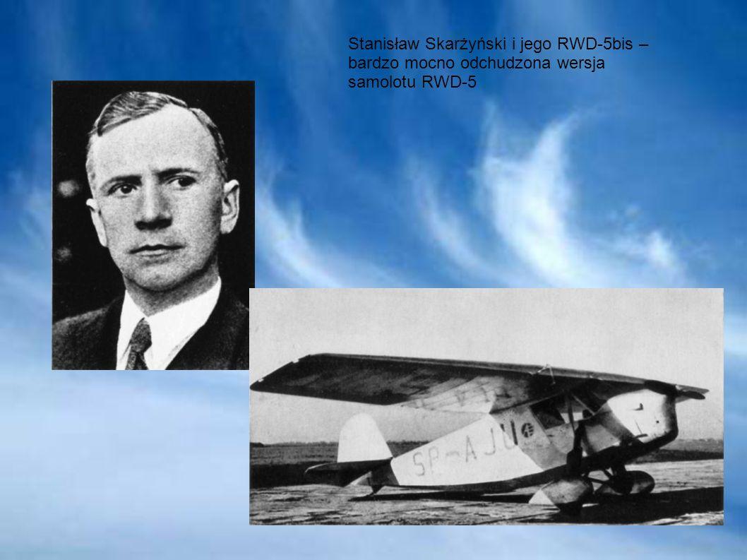 Stanisław Skarżyński i jego RWD-5bis – bardzo mocno odchudzona wersja samolotu RWD-5