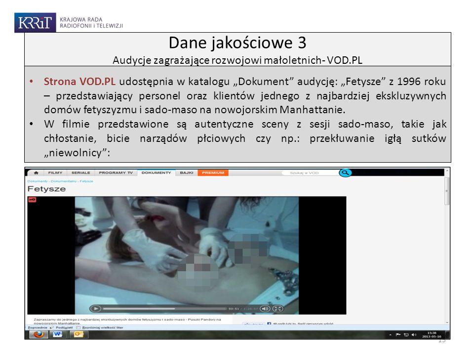 Strona VOD.PL udostępnia w katalogu Dokument audycję: Fetysze z 1996 roku – przedstawiający personel oraz klientów jednego z najbardziej ekskluzywnych