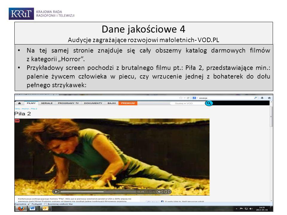 Na tej samej stronie znajduje się cały obszerny katalog darmowych filmów z kategorii Horror. Przykładowy screen pochodzi z brutalnego filmu pt.: Piła