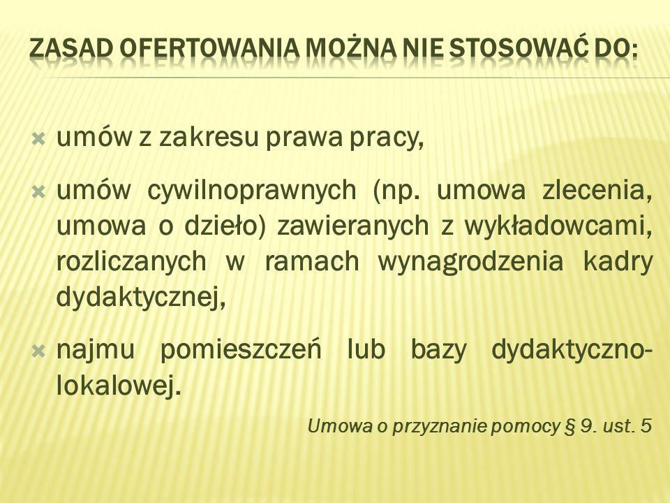 umów z zakresu prawa pracy, umów cywilnoprawnych (np.