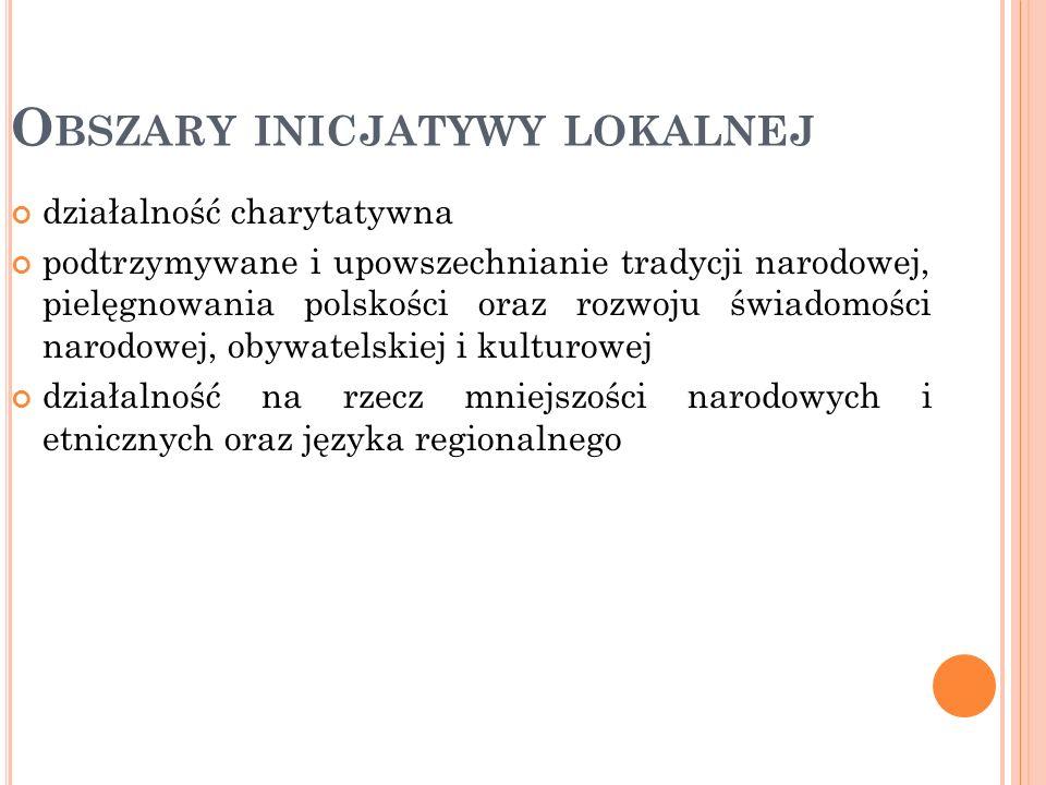 działalność charytatywna podtrzymywane i upowszechnianie tradycji narodowej, pielęgnowania polskości oraz rozwoju świadomości narodowej, obywatelskiej