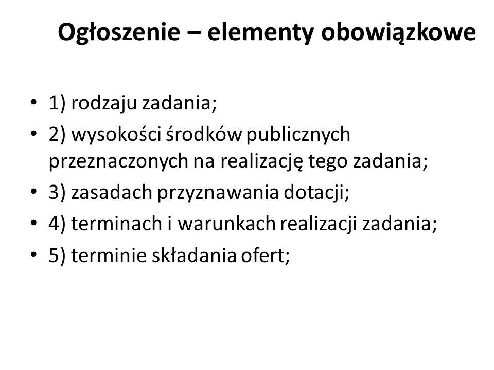 Księgowość i kontrola zadania Zleceniobiorca zobowiązany jest do przechowywania dokumentacji związanej z realizacją zadania publicznego przez 5 lat, licząc od początku roku następującego po roku, w którym realizował zadanie publiczne.