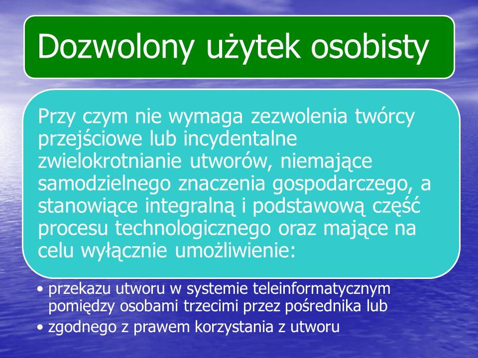 Prawo reemisji kablowej Wolno rozpowszechniać za pomocą anteny zbiorowej oraz sieci kablowej utwory nadawane przez inną organizację radiową lub telewizyjną drogą satelitarną albo naziemną, jeżeli następuje to w ramach równoczesnego, integralnego i nieodpłatnego rozpowszechniania programów radiowych lub telewizyjnych i przeznaczone jest do oznaczonego grona odbiorców znajdujących się w jednym budynku lub w domach jednorodzinnych obejmujących do 50 gospodarstw domowych.