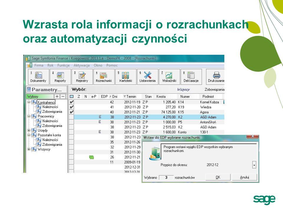 Wzrasta rola informacji o rozrachunkach oraz automatyzacji czynności