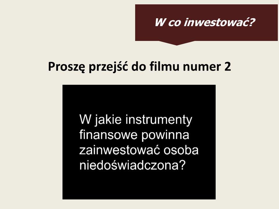 W co inwestować? Proszę przejść do filmu numer 2