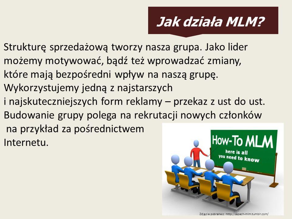 Jak działa MLM? Strukturę sprzedażową tworzy nasza grupa. Jako lider możemy motywować, bądź też wprowadzać zmiany, które mają bezpośredni wpływ na nas