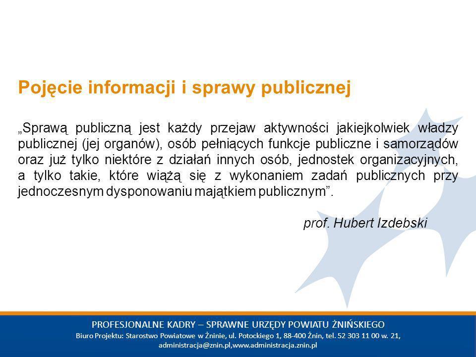 Wstaw tekst PROFESJONALNE KADRY – SPRAWNE URZĘDY POWIATU ŻNIŃSKIEGO Biuro Projektu: Starostwo Powiatowe w Żninie, ul.