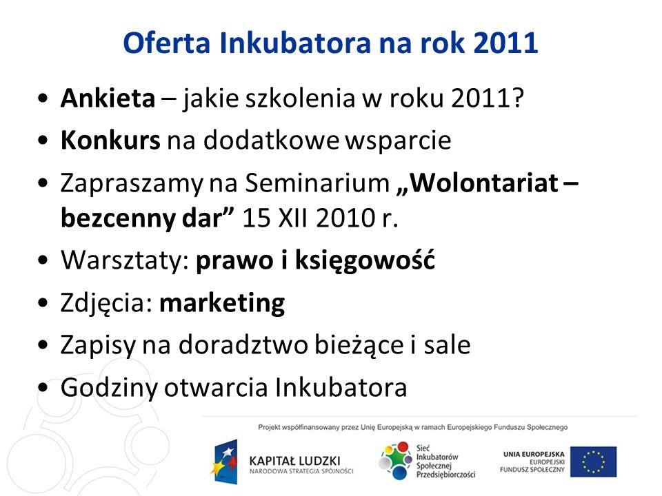 Ankieta – jakie szkolenia w roku 2011.