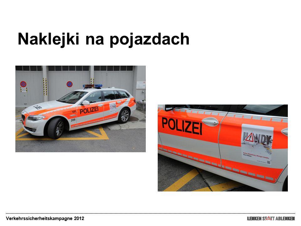 Naklejki na pojazdach Verkehrssicherheitskampagne 2012