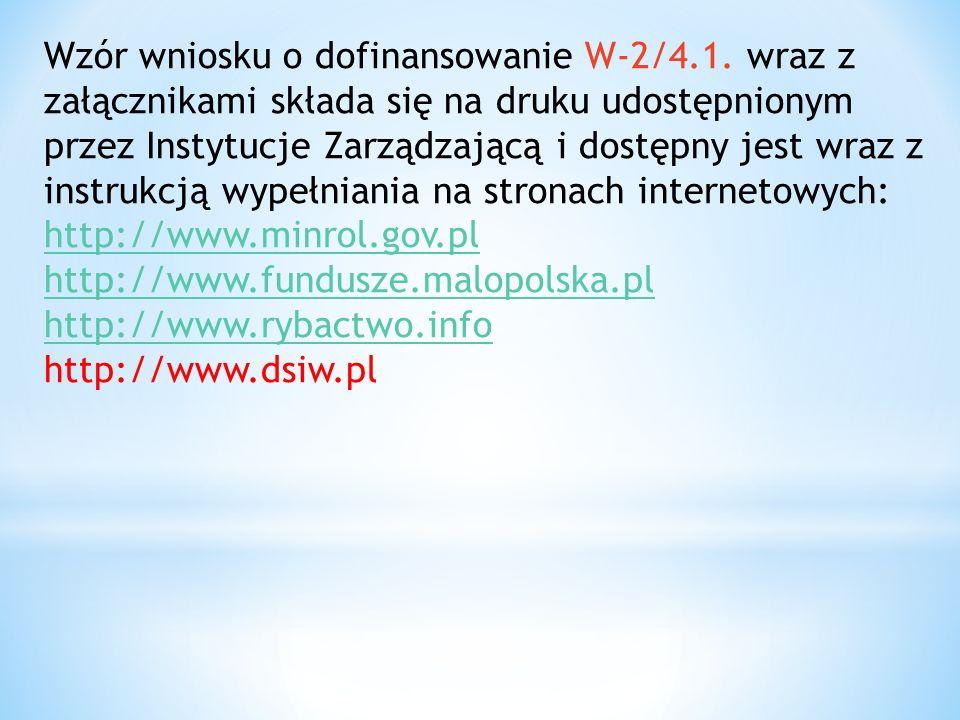 Wzór wniosku o dofinansowanie W-2/4.1.