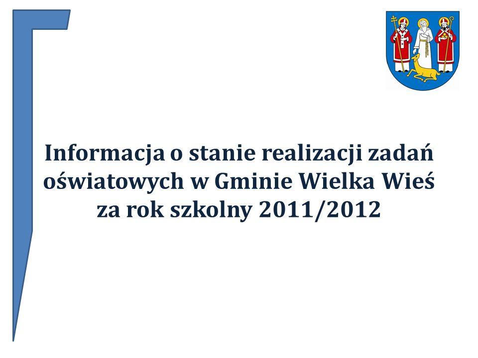 Informacja o stanie realizacji zadań oświatowych w Gminie Wielka Wieś za rok szkolny 2011/2012