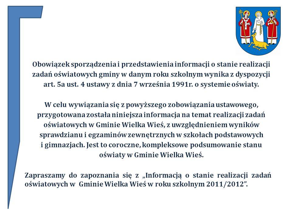 Obowiązek sporządzenia i przedstawienia informacji o stanie realizacji zadań oświatowych gminy w danym roku szkolnym wynika z dyspozycji art.