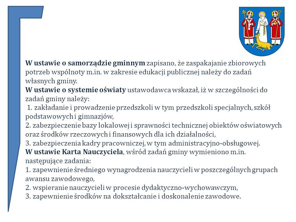 W ustawie o samorządzie gminnym zapisano, że zaspakajanie zbiorowych potrzeb wspólnoty m.in.