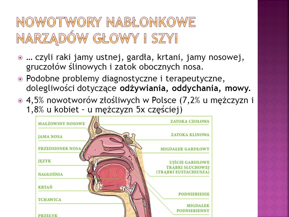 Rak płaskonabłonkowy krtani z naciekaniem chrząstki tarczowatej