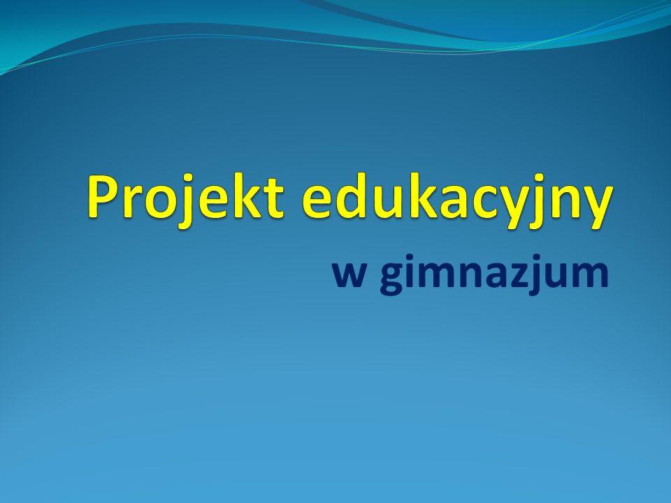 do 6 grudnia br.ogłoszenie bazy tematów projektów edukacyjnych przez dyrektora do 15 grudnia br.