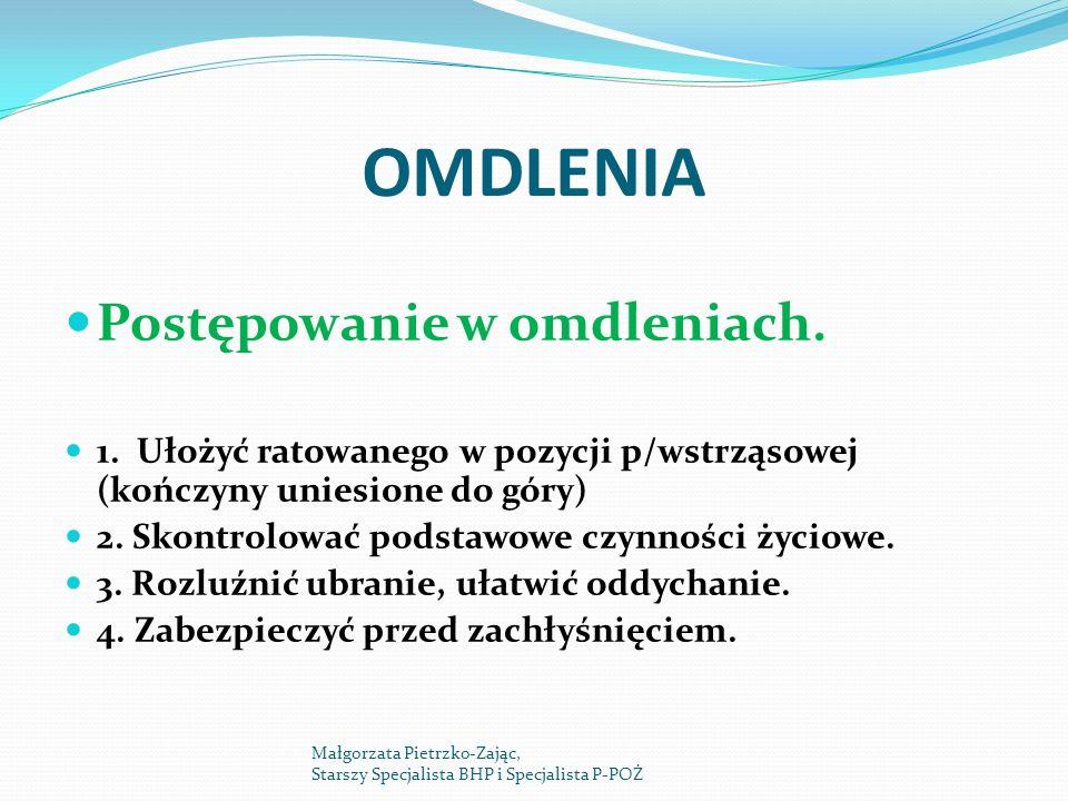 OMDLENIA Postępowanie w omdleniach.1.