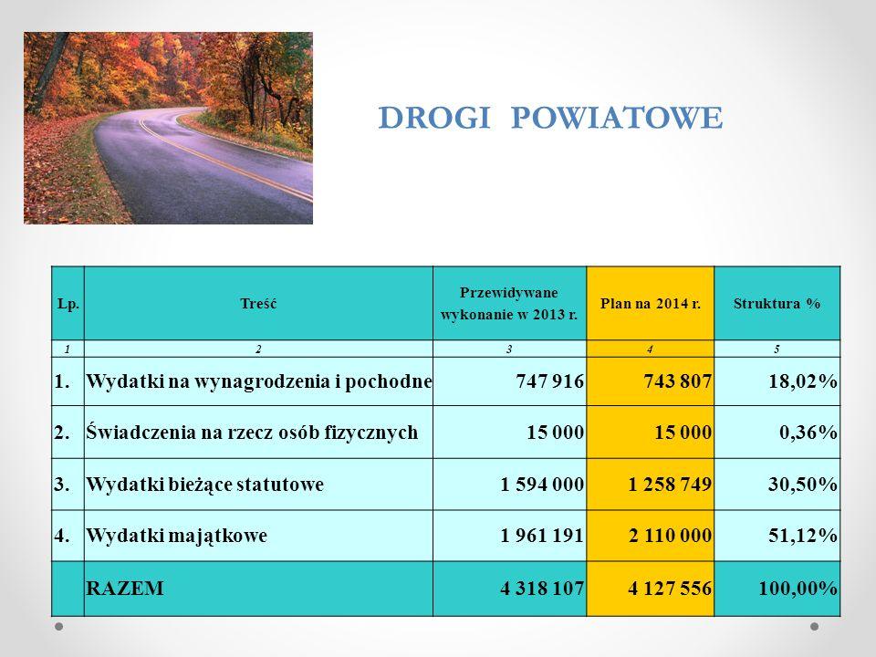 Lp.Treść Przewidywane wykonanie w 2013 r.