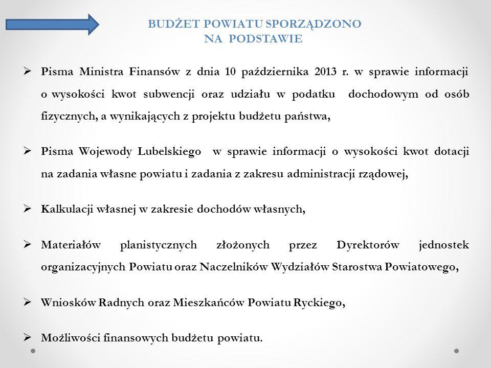 kwota § Wyszczególnienie Przewidywane wykonanie za 2013 r.