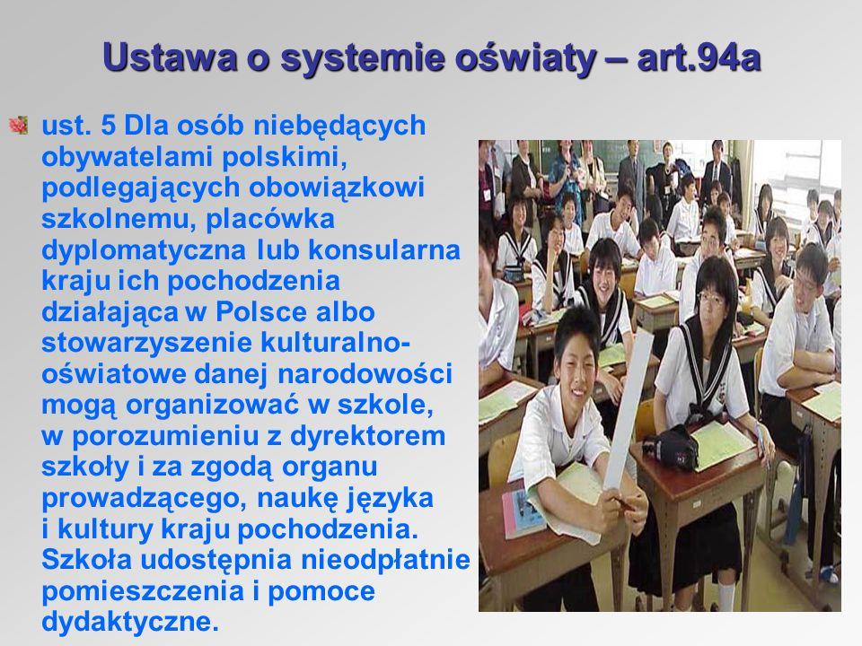 Ustawa o systemie oświaty – art.94a ust.