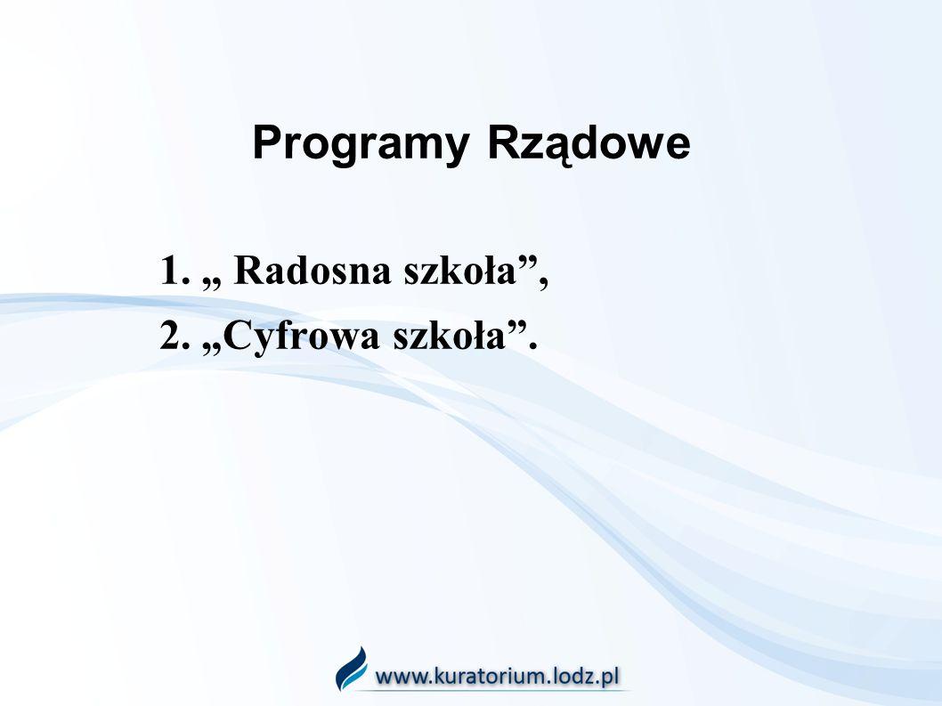 1. Radosna szkoła, 2.Cyfrowa szkoła.