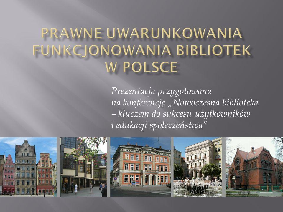 Prezentacja przygotowana na konferencję Nowoczesna biblioteka – kluczem do sukcesu użytkowników i edukacji społeczeństwa