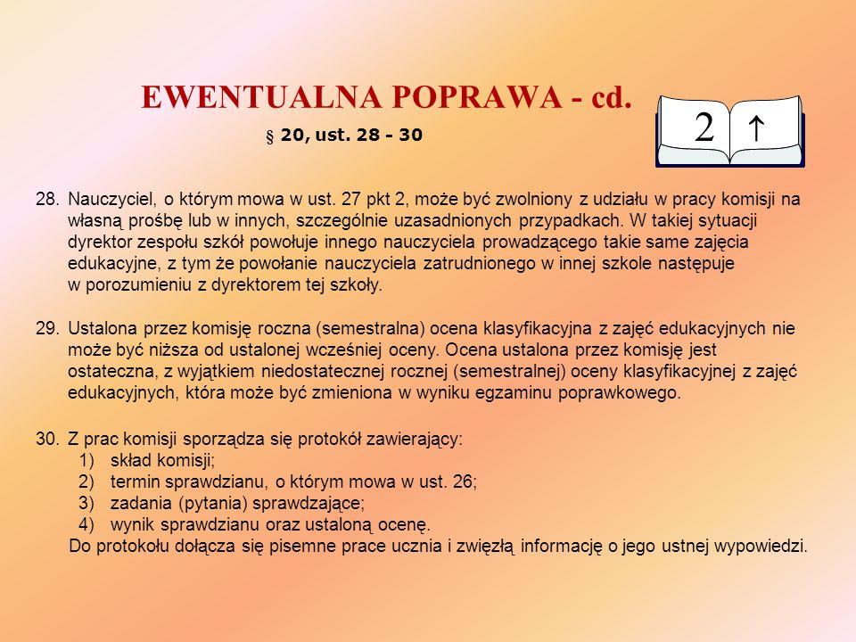 ZACHOWANIE § 28, ust.6.