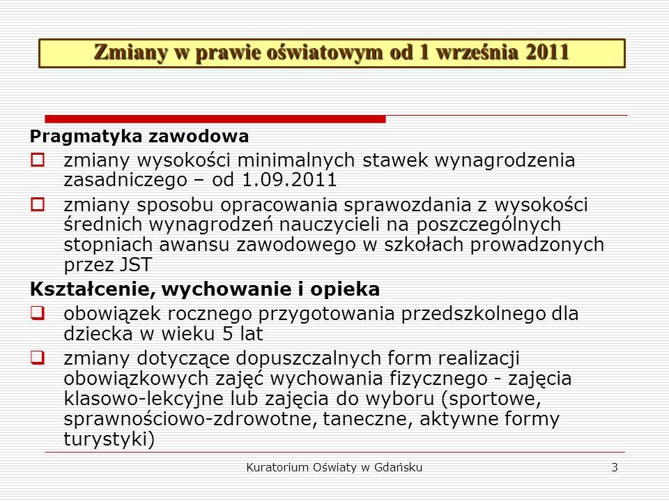 Kalendarz roku szkolnego 2011/2012 Rozpoczęcie rocznych zajęć dydaktyczno-wychowawczych 1 września 2011 Zimowa przerwa świąteczna 23 – 31 grudnia 2011 r.