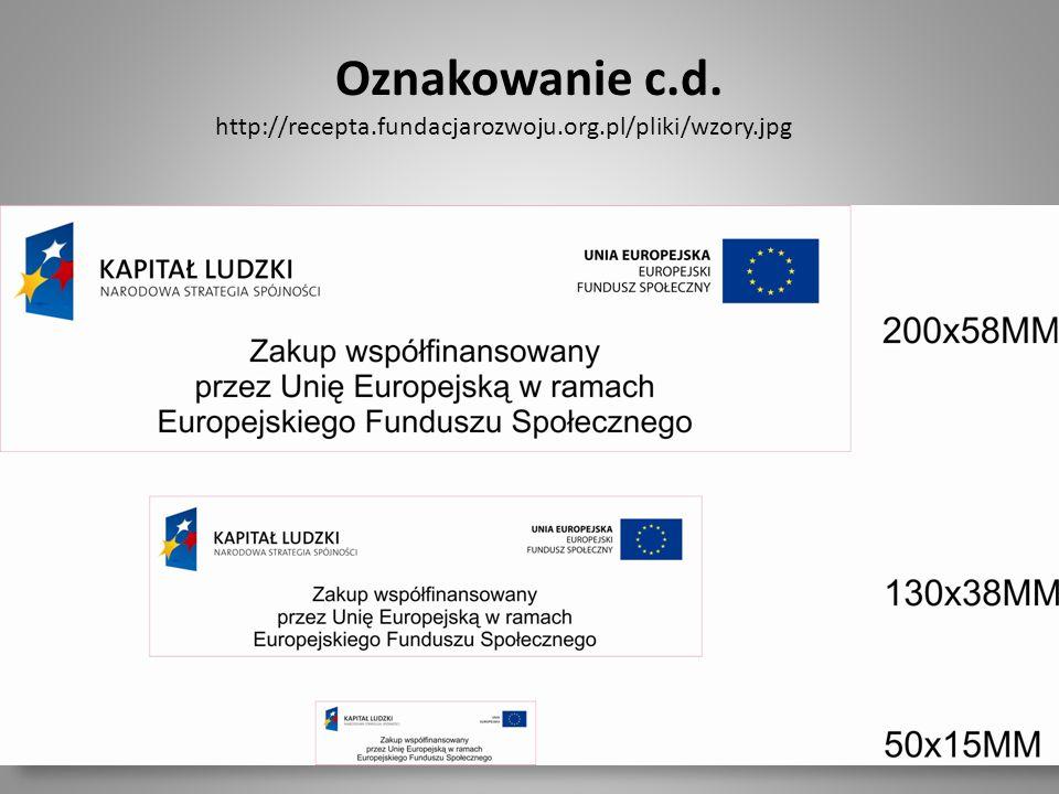 Dla dociekliwych – szczegółowe informacje znajdują się na stronie internetowej: http://www.efs.gov.pl/Dokumenty/Strony/Dokumenty.aspx#zakladka=1&strona=2 (dokumenty programowe pozycja nr 13)