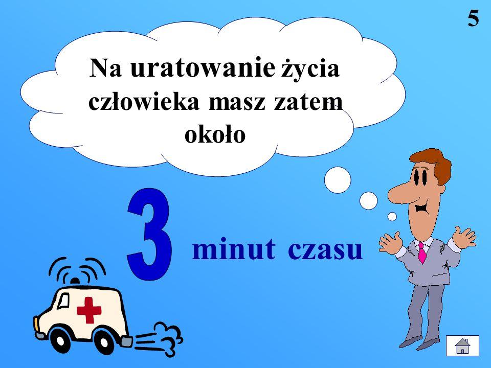 niedotlenienie i trwałe uszkodzenie mózgu oznaczające śmierć człowieka Już 3 minutowe zatrzymanie pracy serca i płuc powoduje 4