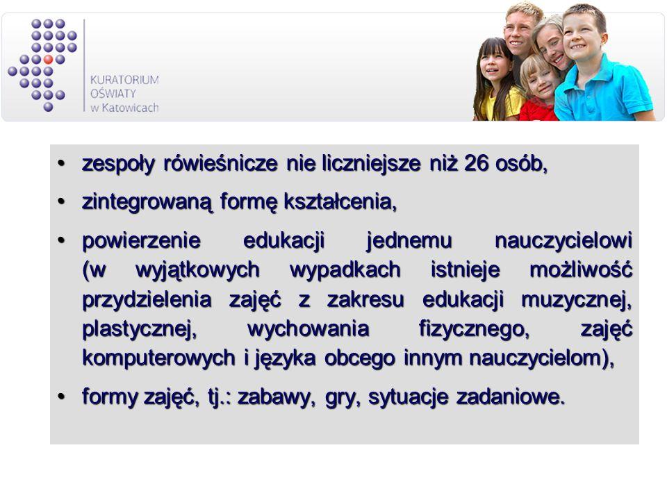 zespoły rówieśnicze nie liczniejsze niż 26 osób,zespoły rówieśnicze nie liczniejsze niż 26 osób, zintegrowaną formę kształcenia,zintegrowaną formę ksz