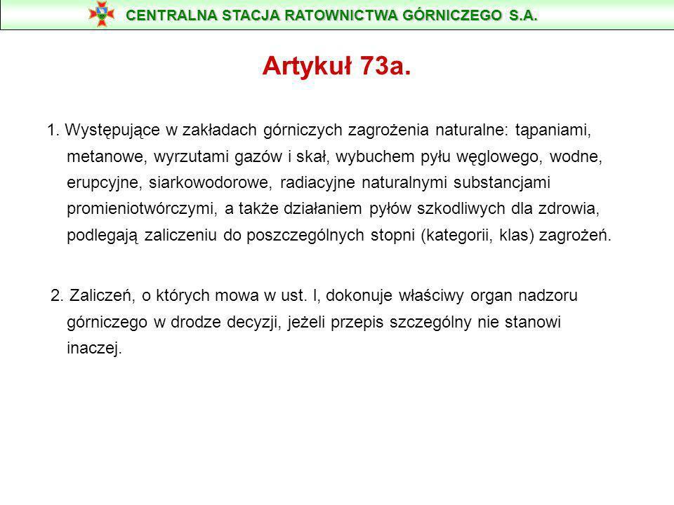 Prawo Geologiczne i Górnicze z dnia 4.02.1994 r. art. 73 (znowelizowane 27.07.2001 r.) 1. Przedsiębiorca jest zobowiązany w szczególności: rozpoznawać