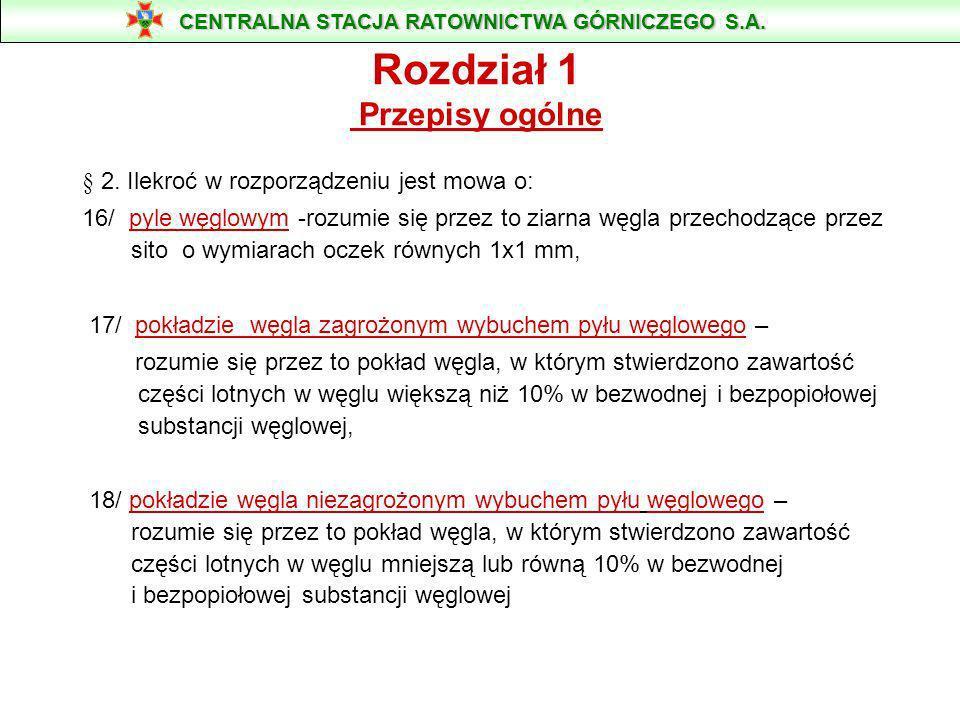 Rozporządzenie Ministra Spraw Wewnętrznych i Administracji z dnia 14 czerwca 2002 r. W sprawie zagrożeń naturalnych w zakładach górniczych CENTRALNA S
