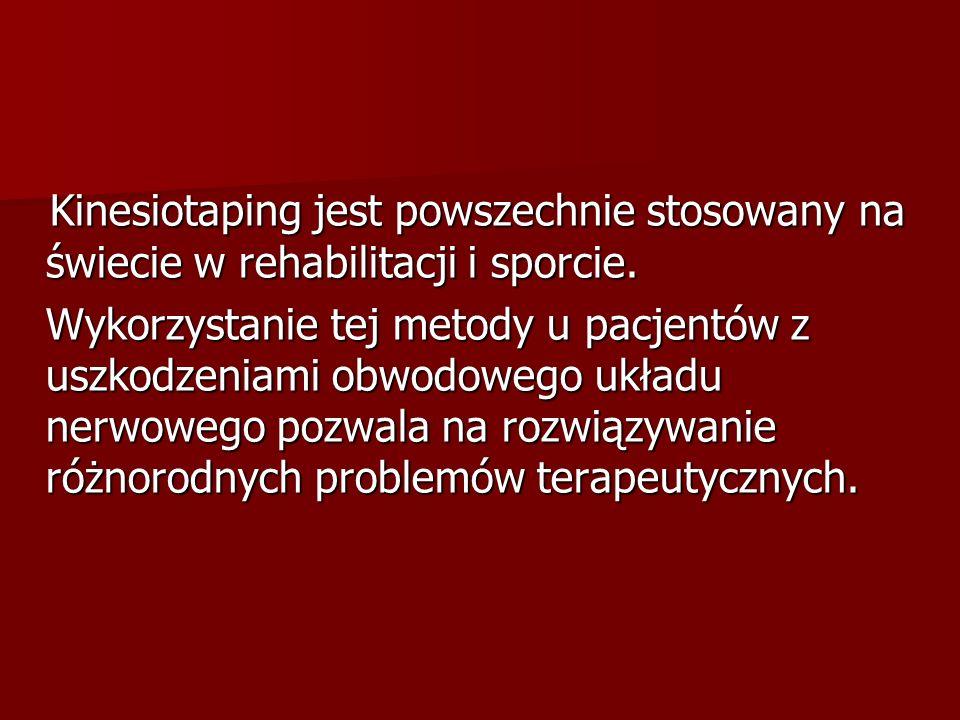 Kinesiotaping jest powszechnie stosowany na świecie w rehabilitacji i sporcie.