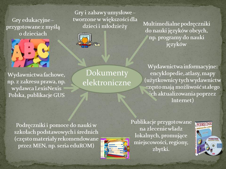 Dokumenty elektroniczne Gry edukacyjne – przygotowane z myślą o dzieciach Gry i zabawy umysłowe – tworzone w większości dla dzieci i młodzieży Multime