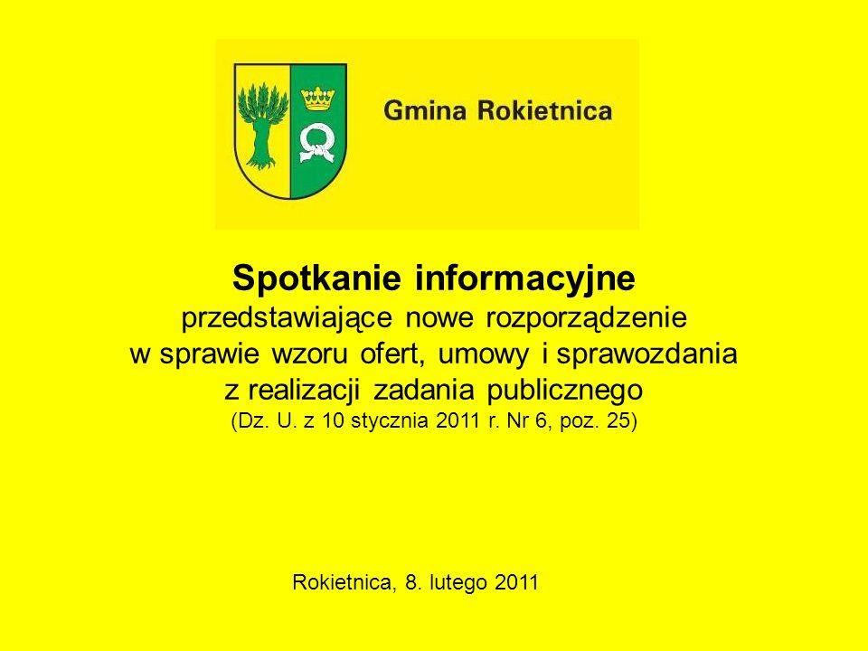 Spotkanie informacyjne przedstawiające nowe rozporządzenie w sprawie wzoru ofert, umowy i sprawozdania z realizacji zadania publicznego (Dz. U. z 10 s